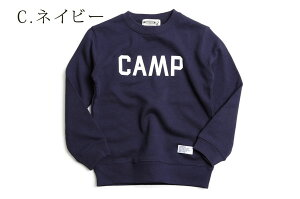 b71fe81bd4747 ... ジュニア キッズ CAMP ロゴ スウェット ロングスリーブ 長袖 CAMPFREE