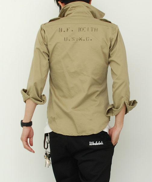 M46 コットンカーキシャツ 米軍レプリカ 長袖★60年代半ばまで米軍で使用されていたカーキシャツを復刻【メンズ】【ミリタリー、軍物、軍もの】【チノシャツ】