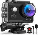 【4K/30FPS&2000万画素】COOAU 【カメラ 水...