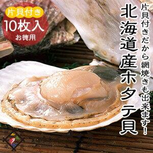 ホタテ 殻付き 海鮮BBQ バーベキューセット 北海道噴火湾産 片貝ホタテ 10枚【冷凍便】