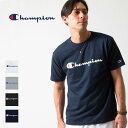 チャンピオン Champion 半袖 Tシャツ ロゴ プリント トップス クルーネック カットソー C3-H374