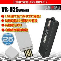 【あす楽_関東】USB&ボイスレコーダー最長25日待機録音/VR-U25超小型ボイスレコーダー小型長時間高音質録音/浮気調査専用/音で監視/モラハラ/セクハラ/パワハラ対策