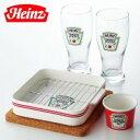 Heinz(ハインツ) ペアカウチセット(揚げ物皿、ソースカップ、タンブラー、コルクマット) …