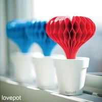 自然気化式加湿器lovepot(ラブポット)レッド