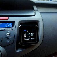 【送料無料】【ポイント10倍】二酸化炭素濃度計卓上型車載用co2センサー多機能リアルタイム監視リアルタイム監視温度湿度表示付き濃度測定器CO2メーターCO2モニター車用車内空気質検知器空気品質高精度電池MCH-A067