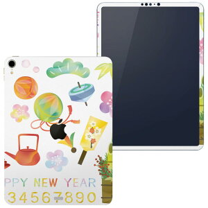 igsticker iPad Pro 11 inch inch compatible apple Apple iPad A1934 A1979 A1980 A2013 Full skin seal full back side front LCD tablet case sticker tablet protection sticker Popular 014646 New Year Kadomatsu celebration