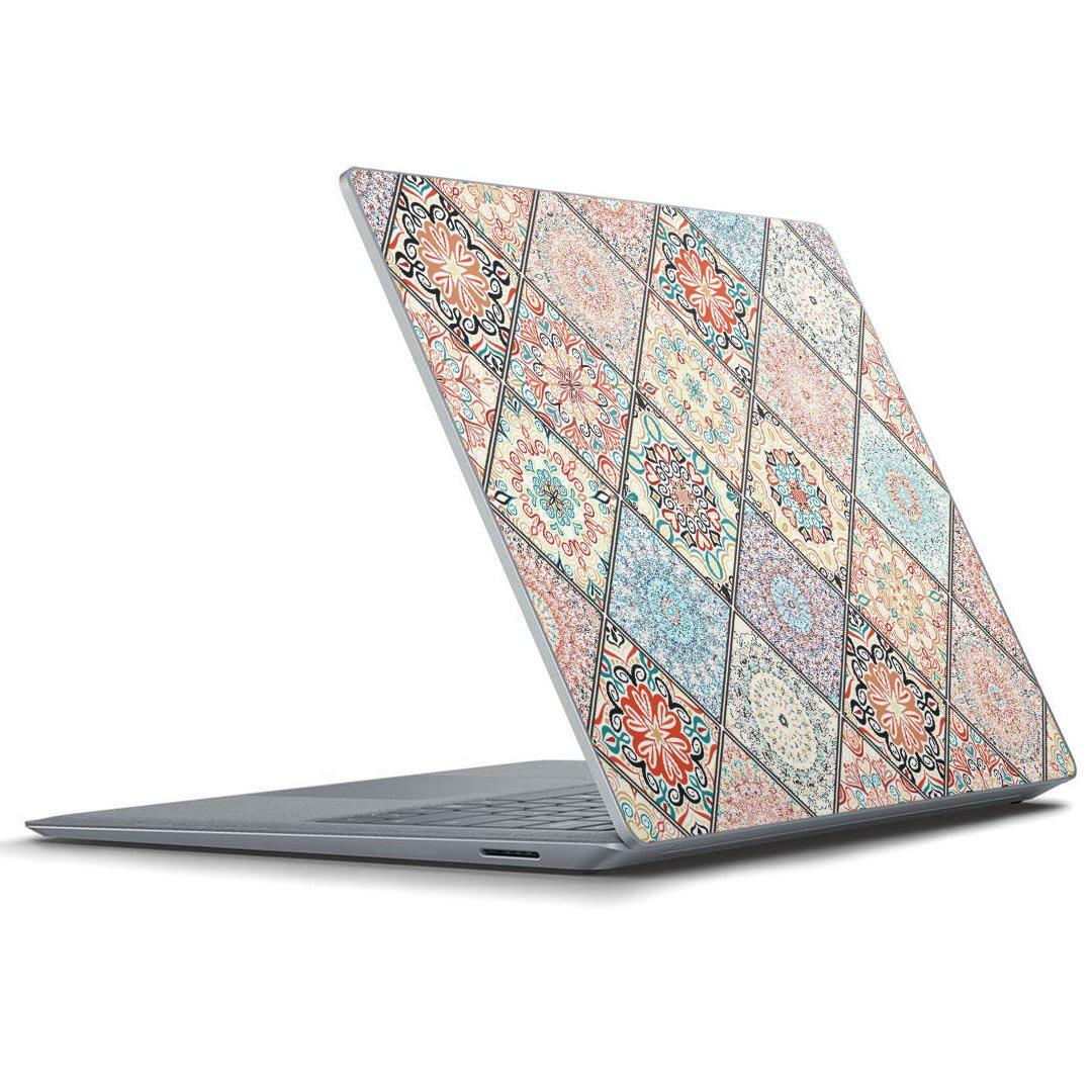 Surface Laptop ラップトップ 専用スキンシール Microsoft サーフェス サーフィス ノートブック ノートパソコン カバー ケース フィルム ステッカー アクセサリー 保護 012173 柄 丸 ハート画像