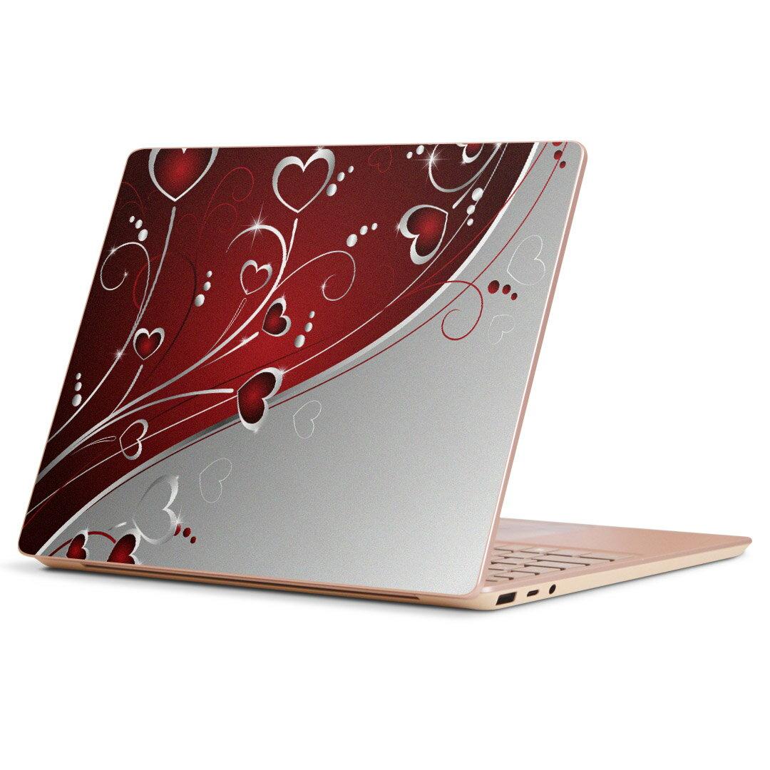 Surface Laptop Go (2020) 専用 スキンシール Microsoft サーフェス サーフィス ノートブック ノートパソコン カバー ケース フィルム ステッカー アクセサリー 保護 001167 ラブリー ハート 模様画像