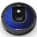 ルンバ Roomba iRobot 【960 980 対応】 専用スキンシール カバー ケース 保護 フィルム ステッカー デコ アクセサリー 掃除機 家電 005473 ラグジュアリー 花 フラワー 青