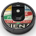 ルンバ Roomba iRobot 【960 980 対応】 専用スキンシール カバー ケース 保護 フィルム ステッカー デコ アクセサリー 掃除機 家電 011925 英語 文字 おしゃれ