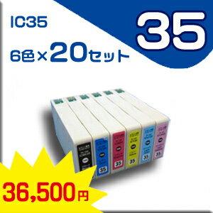 ★送料無料★エプソン EPSON IC35系 6色セット×20 IC35BK/C/M/Y/LC/LM 用新品インク 【純正互換】:e-Mart