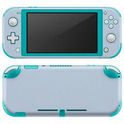 igsticker Nintendo Switch Lite 専用 デザインスキンシール 全面 任天堂 専用 ニンテンドー スイッチ ライト 専用 ゲーム機 カバー アクセサリー フィルム ステッカー エアフリー 009004 シンプル 無地 青