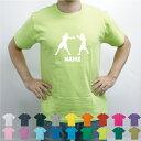拳闘/名入れTシャツ お名前入り オリジナル セミオーダーメイド チームTシャツ クラブTシャツ 卒団記念品Tシャツ サークル 綿100 ボクシング