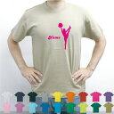 チアガール1/名入れTシャツ 応援 CHEER チア お名前入り オリジナル セミオーダーメイド チームTシャツ クラブTシャツ 卒団記念品Tシャツ サークル 綿100チアダンス、応援、ブラスバンド、チアリーディング