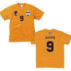 サッカーユニフォーム風Tシャツ「オランダ」/オランダ代表、NETHERLANDS、ベビー半袖、キッズウェア、ベビーウェア、アダルトサイズ、背番号&名入れ【fb】【名入れ無料】