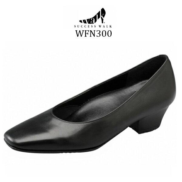 【wacoal/ワコール】【success walk/サクセスウォーク】WFN300 ビジネスパンプス スクエア・トゥタイプ ヒール3.5cm 足囲C-3E