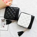【ミニ財布】 レディース キルティング 財布 レディース 二つ折り タッセル 持ちやすい キルティング ミニ財布 ミニウォレット財布 二つ折り レディース財布 シンプル 20代 30代 使いやすい
