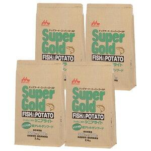 [送料無料]4個セットスーパーゴールド フィッシュ&ポテト(シニアライト)シニア犬用低アレルゲンフード2.4kg