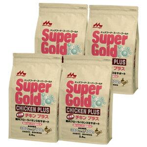 [送料無料]4個セット スーパーゴールド チキンプラス子犬用 腸内フローラバランスサポートフード2.4kg