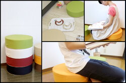 豊富なカラーバリエーション!低反発スツール布製椅子【日本製】