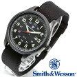 [正規品] スミス&ウェッソン Smith & Wesson ミリタリー腕時計 CADET WATCH BLACK/GREEN SWW-369-GR [あす楽] [ラッピング無料] [送料無料]