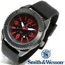 [正規品] スミス&ウェッソン Smith & Wesson ミリタリー腕時計 KNIVES WATCH BLACK/RED SWW-693-BK [あす楽] [ラッピング無料] [送料無料]