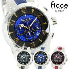 フィッチェ FICCE クロノグラフ 腕時計 アセテート fc-11059フィッチェ FICCE クロノグラフ メ...
