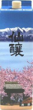 仙醸 サクラパック 1800ml紙パックさくらパック 桜パック桜で有名な信州高遠の地酒です!1.8L