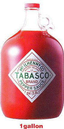 タバスコ TABASCO BRAND PEPPER SAUCE 1gallon 3.8L入り 4本入り1ガロン 3800ml22kg:いいもん