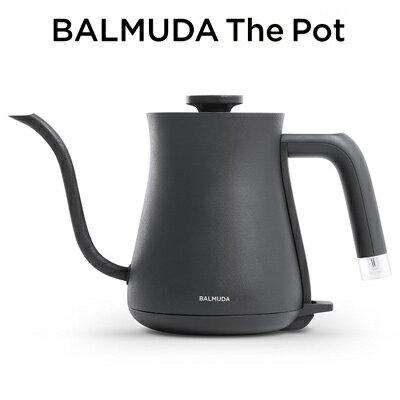 【返品OK!条件付】バルミューダ ステンレス製 電気ケトル 0.6L ブラック BALMUDA The Pot K02A-BK 600ml 【KK9N0D18P】【80サイズ】