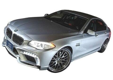【M's】BMW 5シリーズ セダン(2010.3-)F10 エアロ 4点 セット FRP+カーボン / ENERGY MOTOR SPORT // フロント バンパー キット / サイド スポイラー / リア アンダー スポイラー / トランクスポイラー / EVO 10.2 ボディ キット カーボンエディション