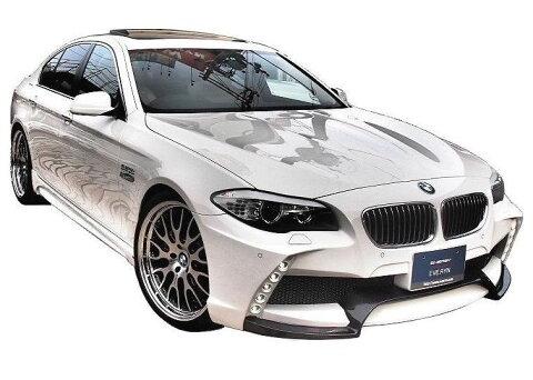 【M's】BMW 5シリーズ(2010.3-)F10 エアロ 4点 カーボン セット / ENERGY MOTOR SPORT // フロント バンパー / サイド スポイラー / リア アンダー スポイラー キット / トランクスポイラー / EVO 10.1 ボディ キット カーボンエディション FRP+CARBON
