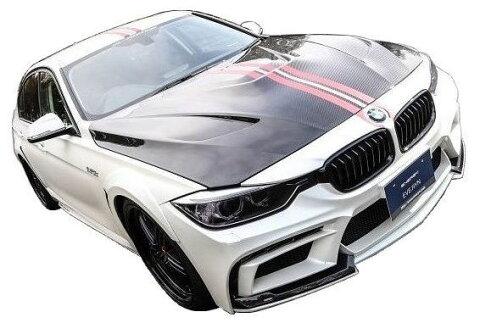 【M's】BMW 3シリーズ F30(2012.1-)エアロ 4点 カーボン セット / ENERGY MOTOR SPORT // フロント バンパー / サイド スポイラー / リア バンパー キット / トランクスポイラー / EVO 90.3 ボディ キット カーボンエディション FRP+CARBON