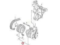 【M's】VWフォルクスワーゲンポロルポ/エアコンコンプレッサー新品