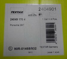 【M's】ポルシェ997カレラTEXTAR製フロントブレーキパッド997-351-939-052404901Fr前CARRERA安新品