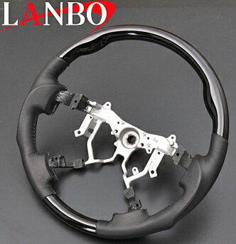 【M's】トヨタ ハイエース 200系(4型)LANBO製 ガングリップタイプ コンビステアリング(ピアノブラック)//社外品 ランボ オリジナル ハンドル ハンドル 200ハイエース ハイエース200 レジアスエース HIACE