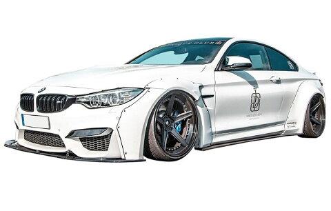 【M's】BMW M4 クーペ (F82) LB☆WORKS フルエアロ 5点 ワイドボディキット // フロント&リア&サイド ディフューザー/トランク スポイラー/ワイドフェンダー/ LB PERFORMANCE/LB パフォーマンス Complete Body kit FRP リバティウォーク