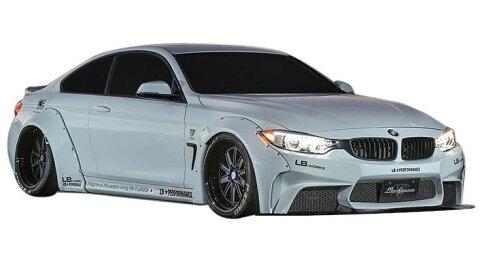 【M's】BMW 4 シリーズ (F32) LB☆WORKS フルエアロ 4点 ワイドボディキット // フロント & リア バンパー/トランク スポイラー/ワイドフェンダー/ LB☆PERFORMANCE BMW 4series Complete Body kit FRP リバティウォーク