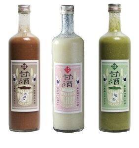 冷やしても温かくしてもおいしい甘酒です!奥出雲酒造 甘酒(ノンアルコール)3種類3本セット...
