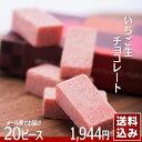 いちご生チョコ 20ピース 和菓子屋さんのしっとりチョコレートメール便でお届け 送料無料