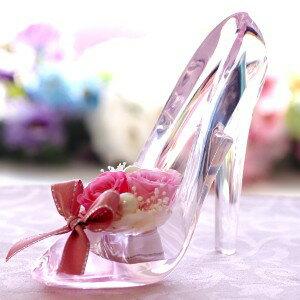 プリザーブドフラワー 誕生日 クリスマス プレゼント ガラスの靴 おしゃれ ギフト プレゼント 結婚祝い 結婚式 結婚記念日 お祝い 贈り物 電報 女性 彼女 プロポーズ おすすめ ディズニー 靴 退職祝い 花 バラ ガラスのくつ シンデレラの靴 送料無料 シンデレラ