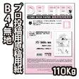 デリーター 漫画原稿用紙 B4判 プロ漫画家・プロ投稿用サイズ 無地B (110kg/40枚入) 201-1009