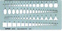 供銅鑼路徑模板日圓、圓周、一般使用的模板綜合性直尺D大小