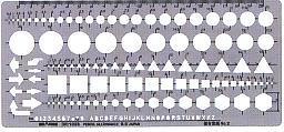 銅鑼路徑模板S型模板綜合性直尺No2