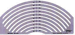 銅鑼路徑模板S型模板圓周直尺No1