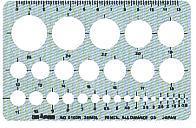 供銅鑼路徑模板日圓、圓周、一般使用的模板日圓直尺(小)