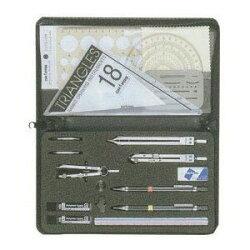 【便利な製図器セット】オール・イン・ワン製図器7本組18品