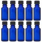 青色遮光ビン 30ml (ドロッパー付) 10本セット 【 あす楽 アロマテラピー アロマクラフト 遮光瓶 遮光ビン 器材 精油 エッセンシャルオイル アロマ アロマオイル 】