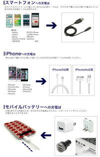 【スリムモバイルバッテリー】5000mAh大容量薄型超薄型iPhone6siPhone6Plus急速充電器ケーブルマイクロケーブルiPhone5iPhoneSEコスメ化粧品ポケモンGOに最適!