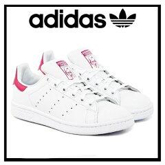 【希少!レディースサイズ】【期間限定セール!】 adidas ORIGINALS(アディダス) STAN SMITH J (スタンスミス) レディース シューズ スニーカー FTWWHT/FTWWHT/BOPINK (ホワイト/ピンク) B32703